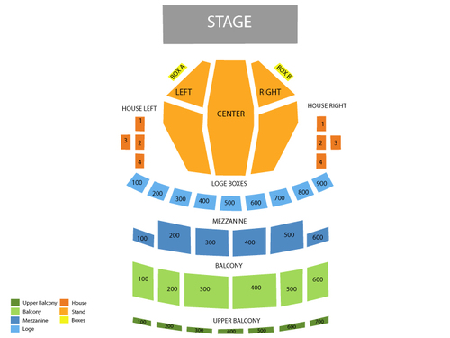 Palace Theatre - Playhouse Square Center Seating Chart