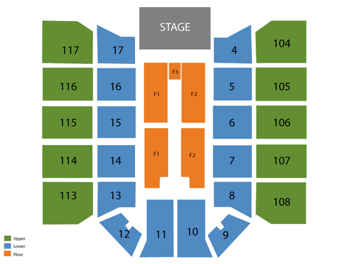 McKay Events Center Seating Chart