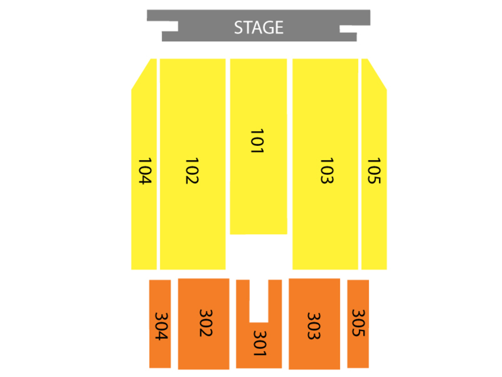 The Temptations Venue Map