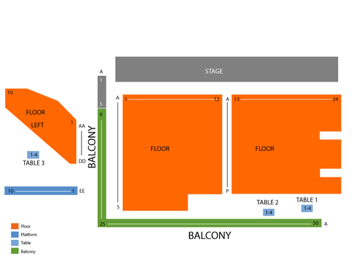 The Norva Seating Chart