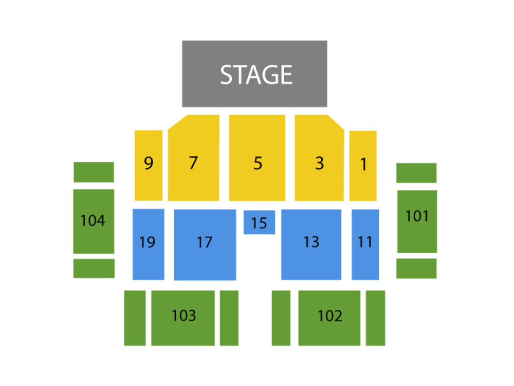 Luke Bryan with Morgan Wallen Venue Map