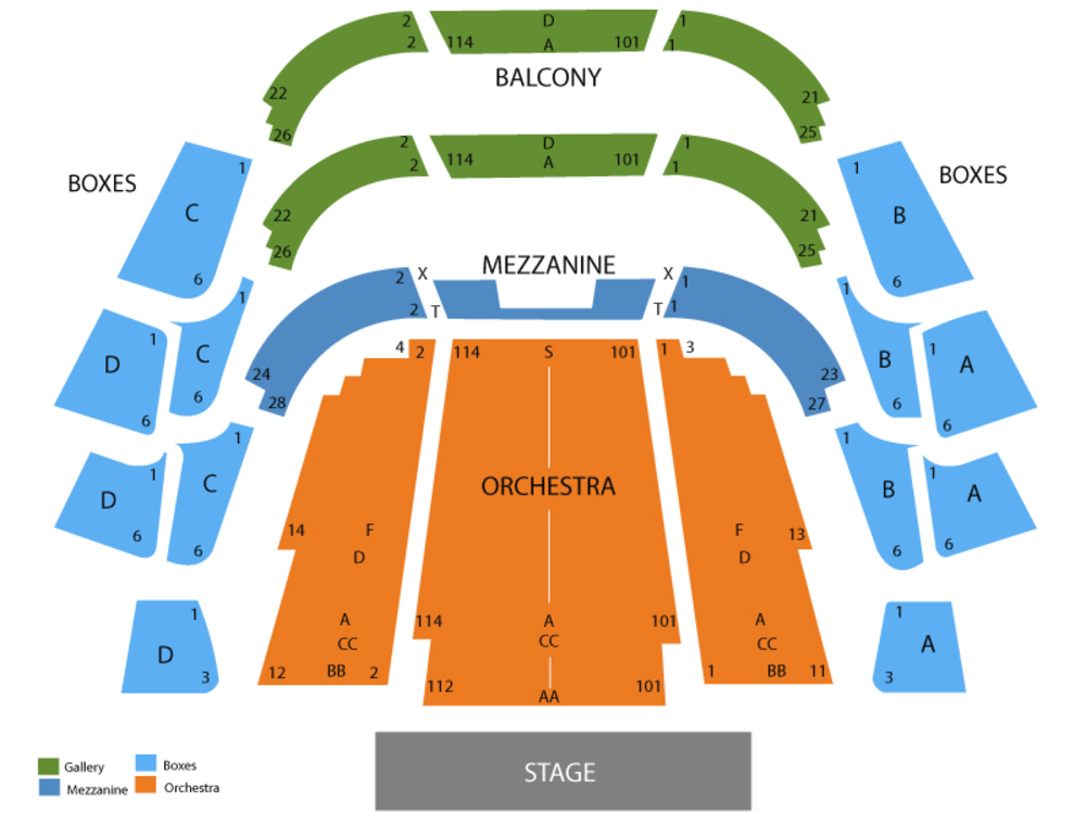 Ferguson hall at straz center seating chart and tickets formerly