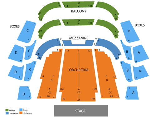 Straz Center Ferguson Hall Seating Chart