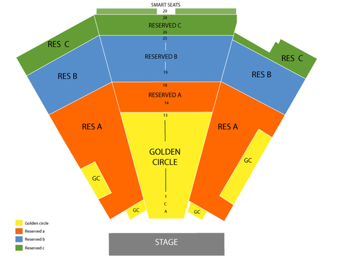 Whoopi Goldberg Venue Map