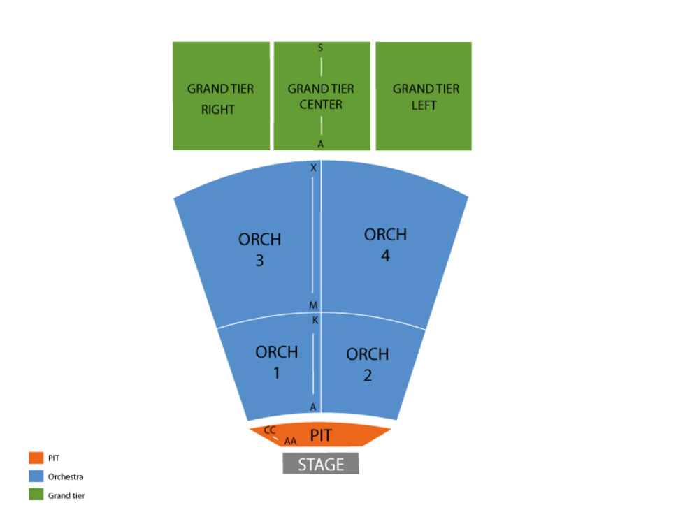 North Charleston Performing Arts Center seating map and tickets