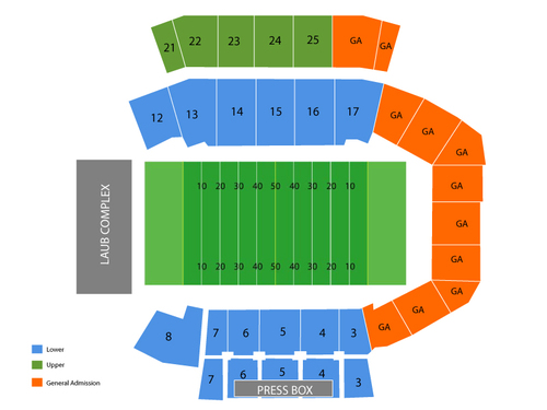 Romney Stadium Seating Chart
