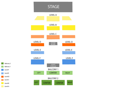 Boulder theatre seating chart events in boulder co