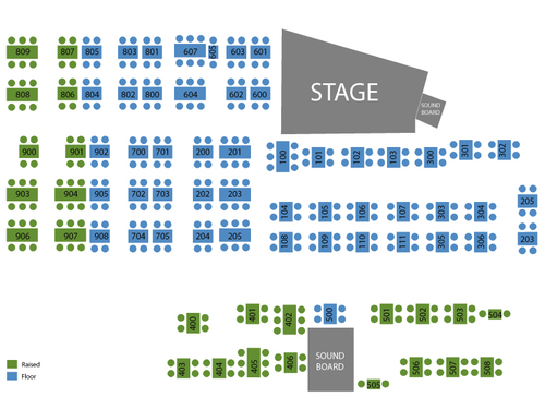 The Zombies Venue Map
