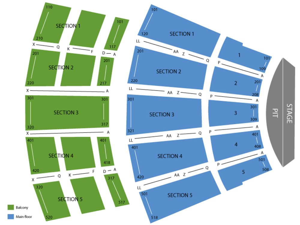 Arie Crown Theater seating map and tickets