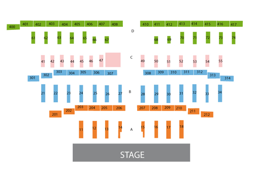 The LINQ Hotel and Casino Seating Chart