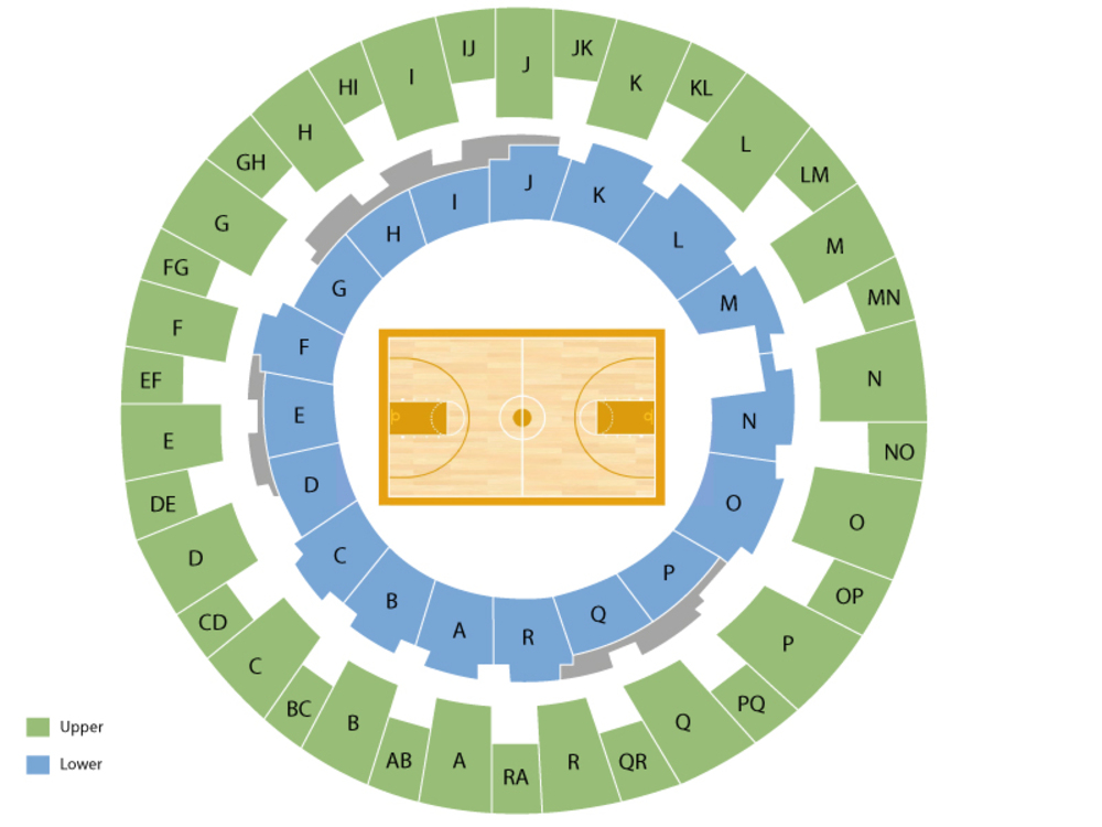 Seating Chart for Basketball Seating Chart at Daniel Meyer Coliseum