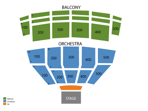 Centennial Hall - AZ Seating Chart