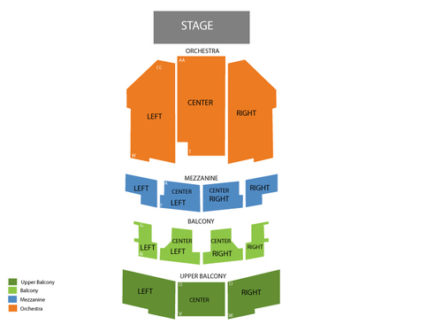 Tracy Morgan Venue Map