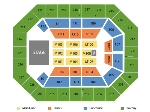 Us cellular center seating chart events in cedar rapids ia