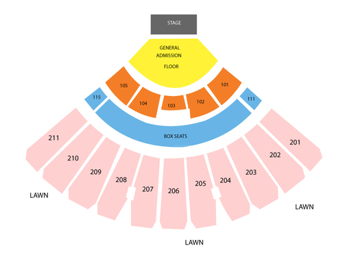 White River Amphitheatre Seating Chart