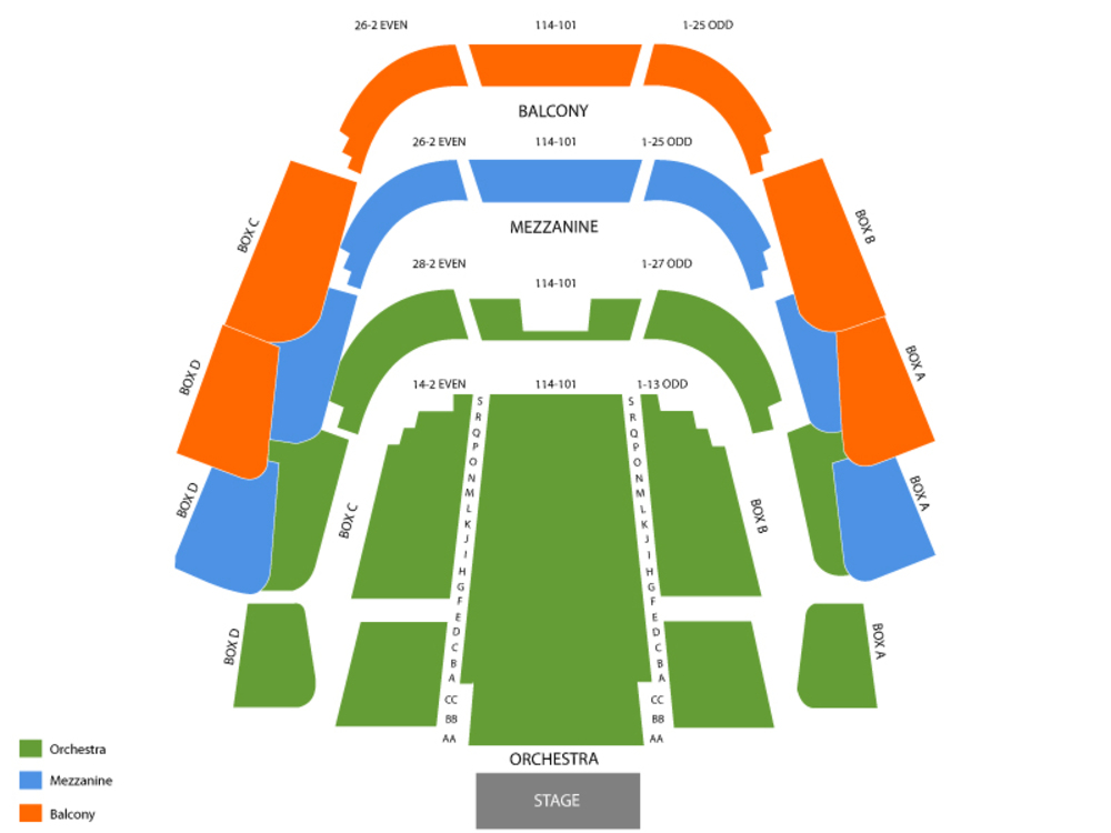 Tampa theater at straz center seating chart and tickets