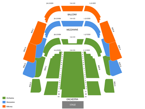 Tampa Theater at Straz Center Seating Chart