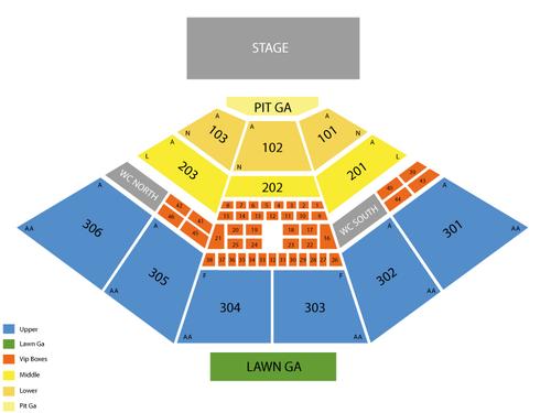 USANA Amphitheatre Seating Chart