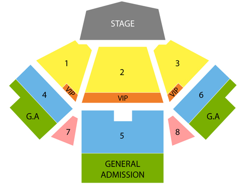 O.A.R. with Andrew McMahon and Allen Stone Venue Map