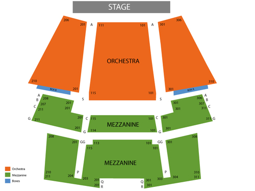 Young Frankenstein Venue Map