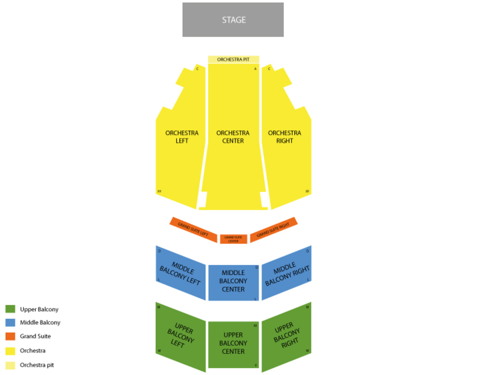 The Color Purple Venue Map