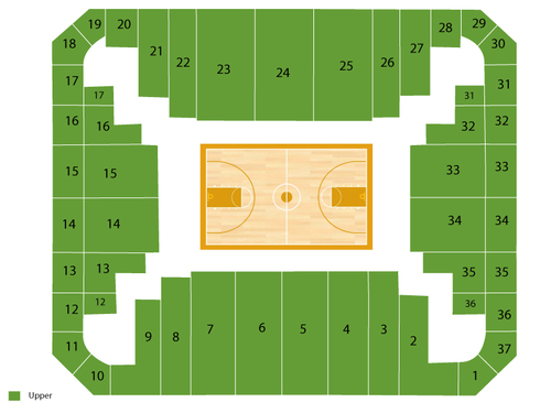 Verizon wireless arena at siegel center seating chart events in