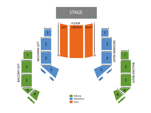 The Avalon Ballroom Theatre at Niagara Fallsview Casino Resort Seating Chart