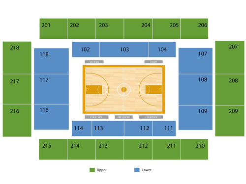 Michael J. Hagan Arena Seating Chart