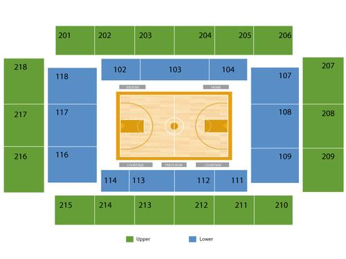 Michael J. Hagan Arena Seating Chart