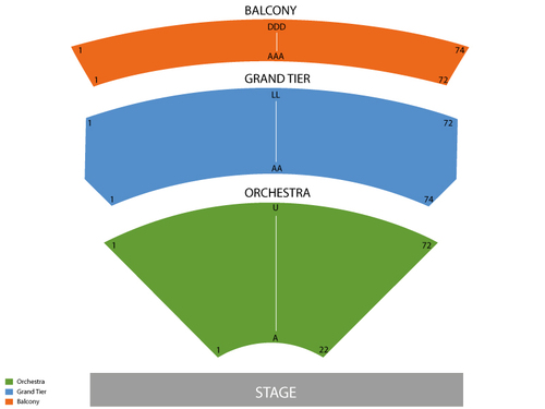 The Ira & Nancy Koger Center for the Art Seating Chart