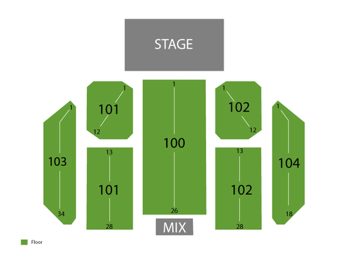 The Seneca Niagara Events Center at Seneca Niagara Casino Seating Chart