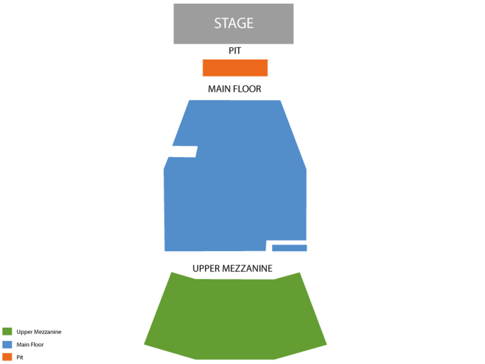 Morrison Center seating map and tickets