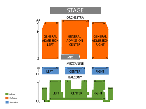 Danforth Music Hall Seating Chart