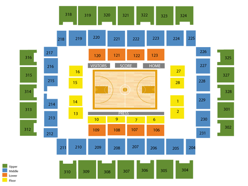 Wesbanco Arena Seating Chart