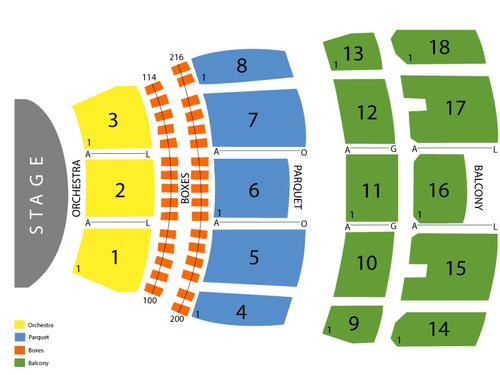 Mahalia Jackson Theatre Seating Chart