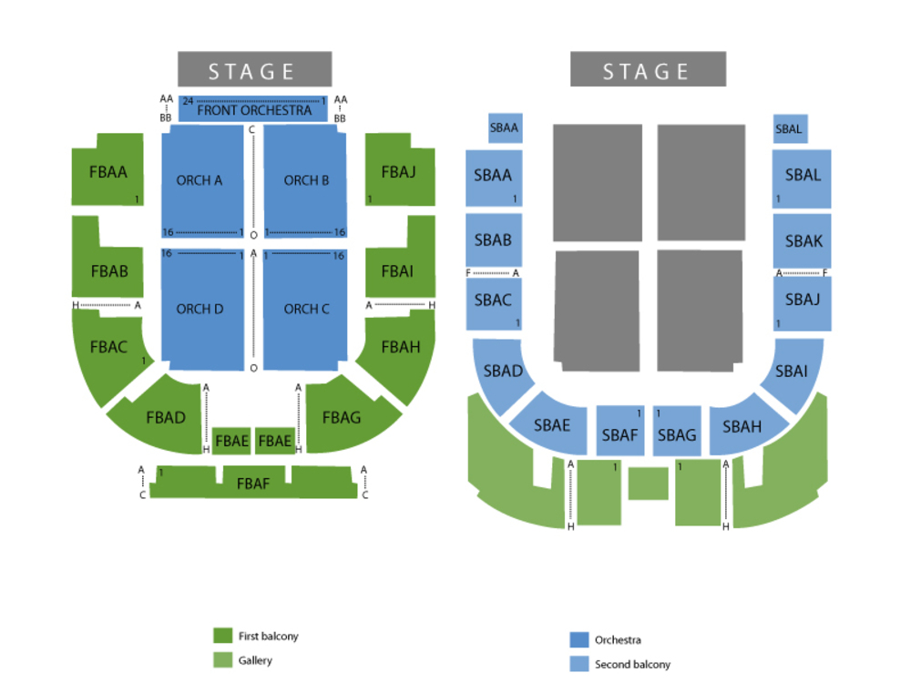 Township Auditorium seating map and tickets