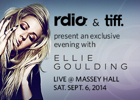 Rdio and TIFF partner to bring Ellie Goulding to the Festival