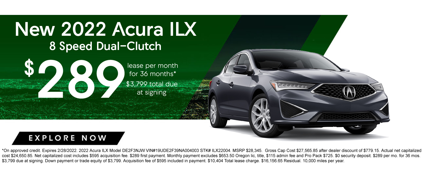 Acura ILX Lease and APR Special