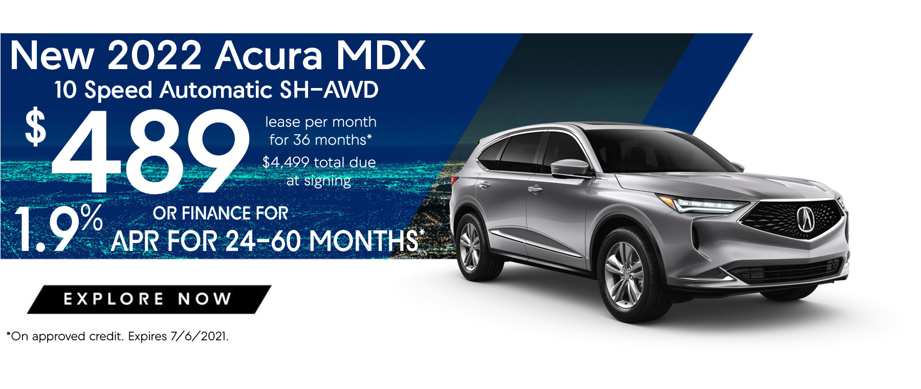 Acura MDX Lease and APR Special