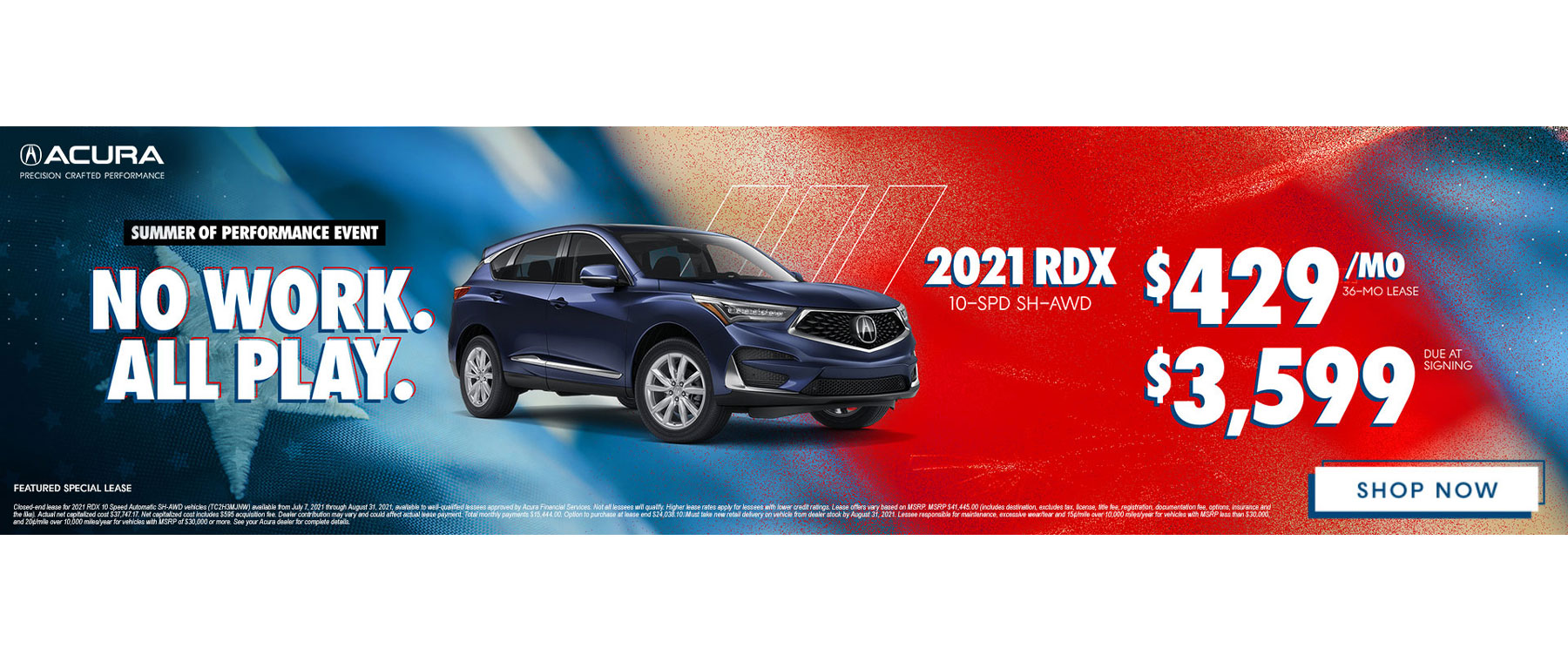 Acura RDX Lease and APR Special