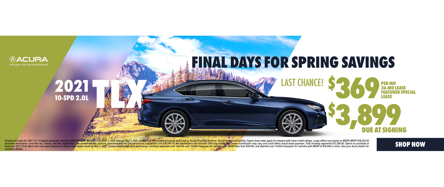 2021 Acura TLX Lease and APR Special