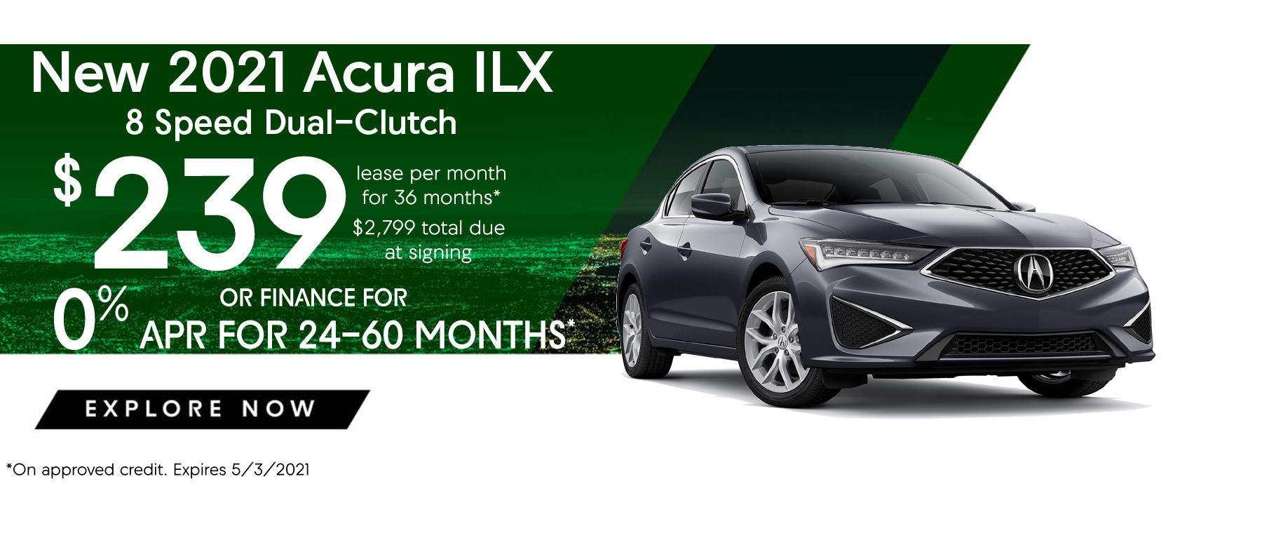 2021 Acura ILX Lease and APR Special