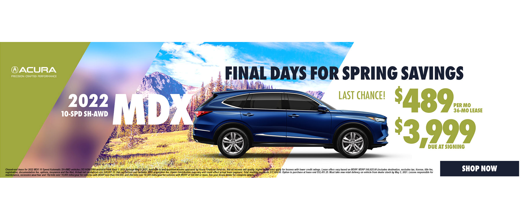 2020 Acura MDX Lease and APR Special
