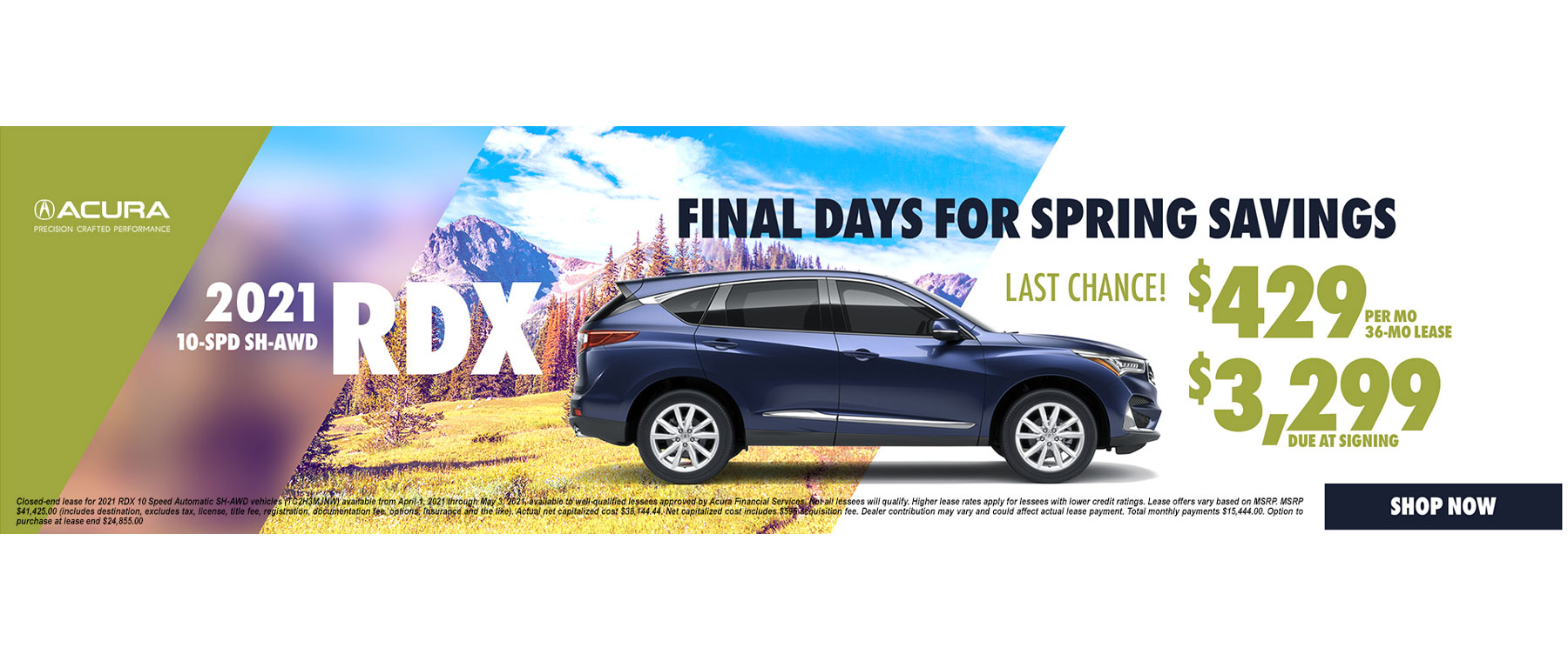 2021 Acura RDX Lease and APR Special