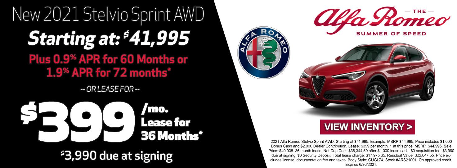 Ron Tonkin Alfa Romeo Stelvio Lease Special