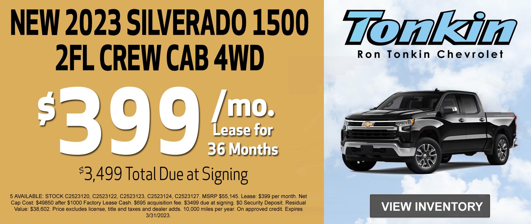 2021 Chevy Silverado Lease Special