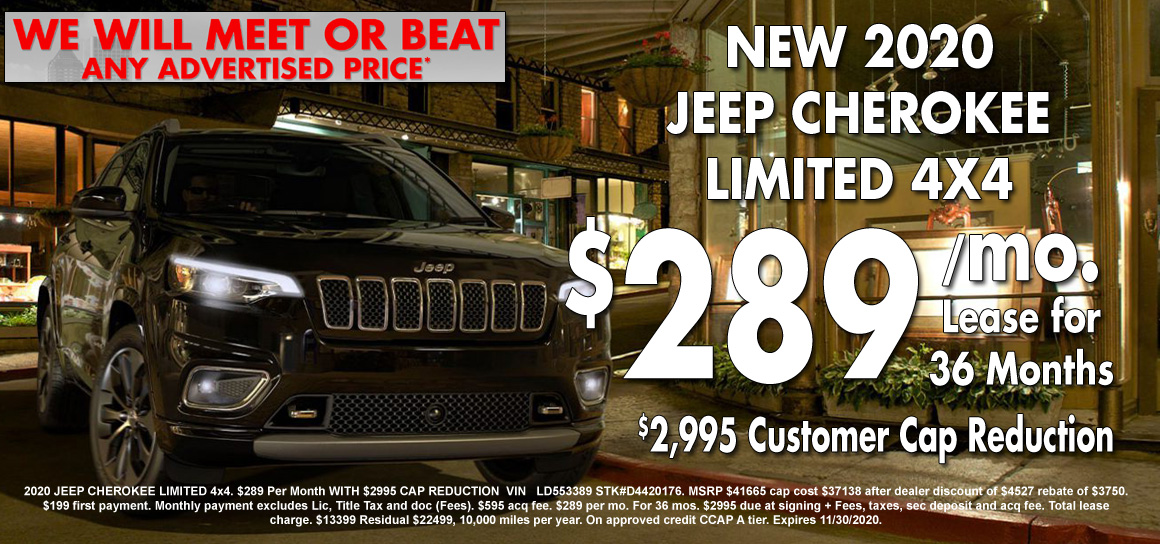 New Jeep Cherokee Lease Special