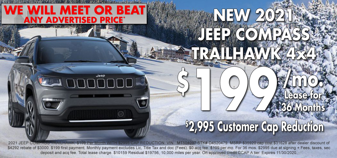 New Jeep Compass Lease Special