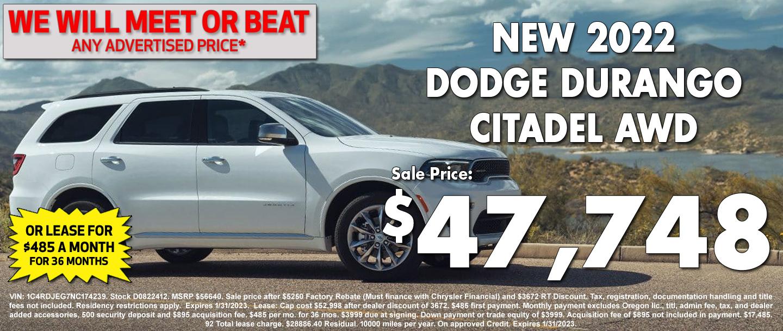 New Dodge Durango Special