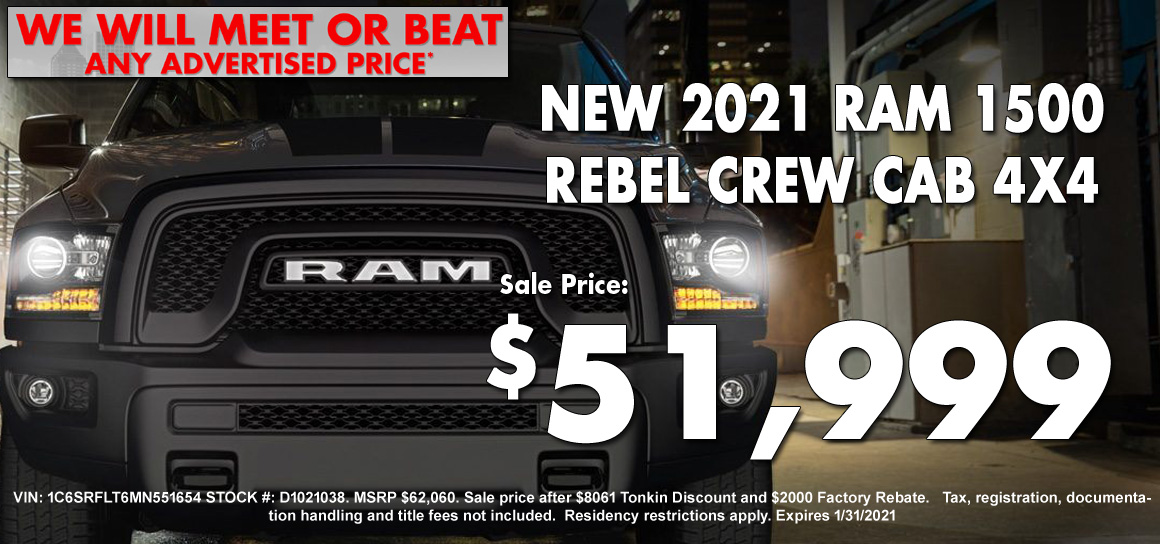 New Ram 1500 Rebel Special